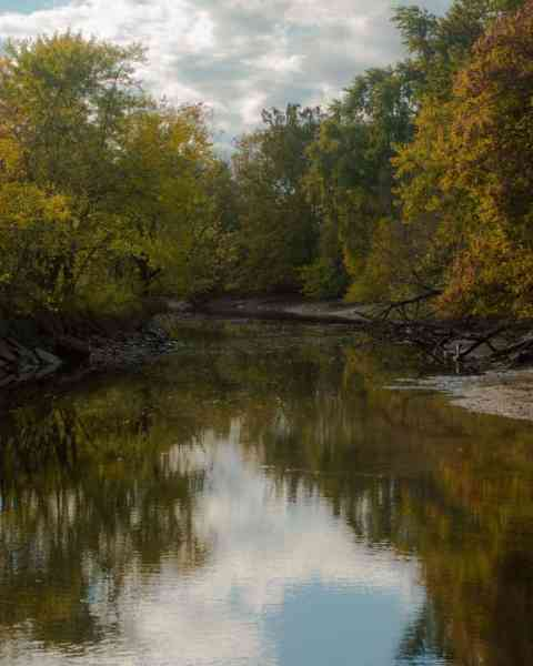 Darby Creek at the John Heinz National Wildlife Refuge in Philadelphia, Pennsylvania.