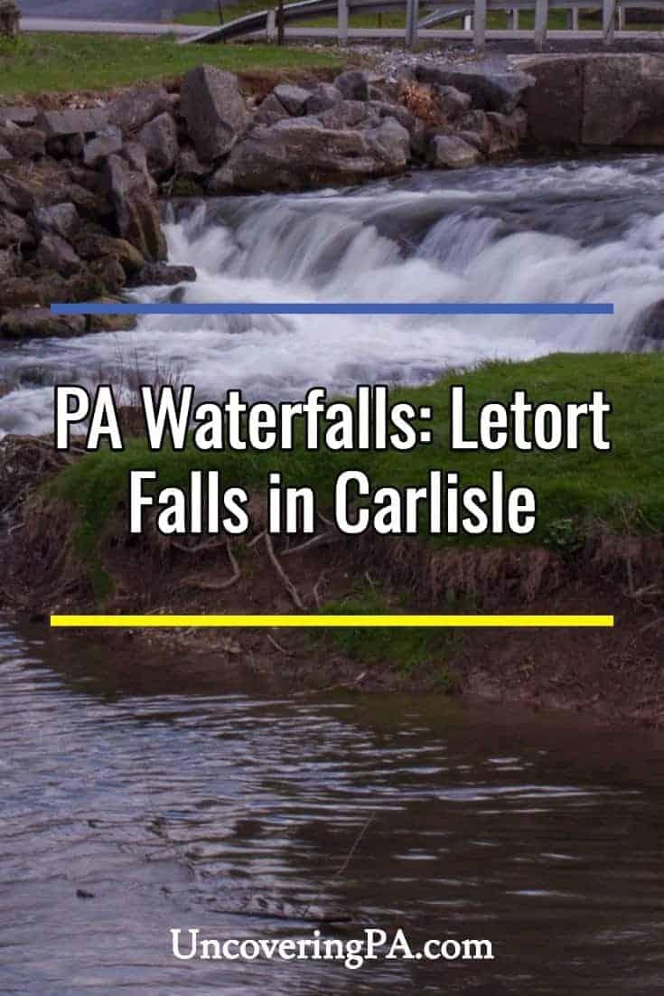 Pennsylvania Waterfalls: Letort Falls in Carlisle