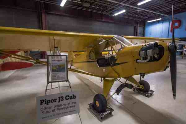 Piper J-3 Cub at the Piper Aviation Museum in Clinton County, PA