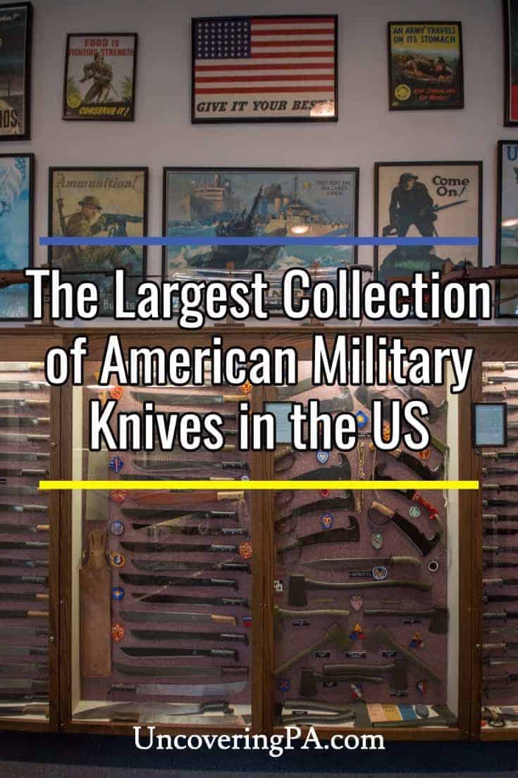 Exploring the largest collection of American military knives in the United States. #Pennsylvania #AmishCountry #US #UnitedStates #Travel