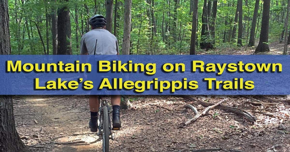 Mountain Biking on the Allegrippis Trails at Raystown Lake, Pennsylvania