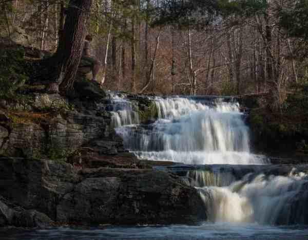 Where is Choke Creek Falls in northeastern Pennsylvania