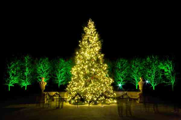 Christmas displays at Longwood Gardens in Kennett Square, PA