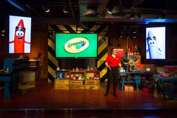 Crayola factory tour show in Easton, Pennsylvania