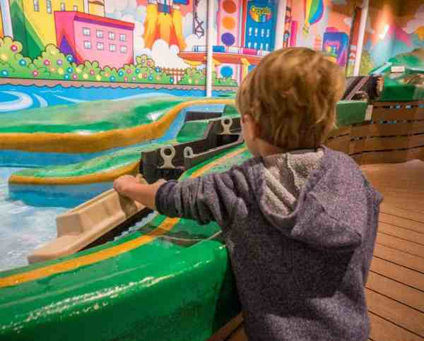 Water table at the Crayola Experience in the Lehigh Valley.