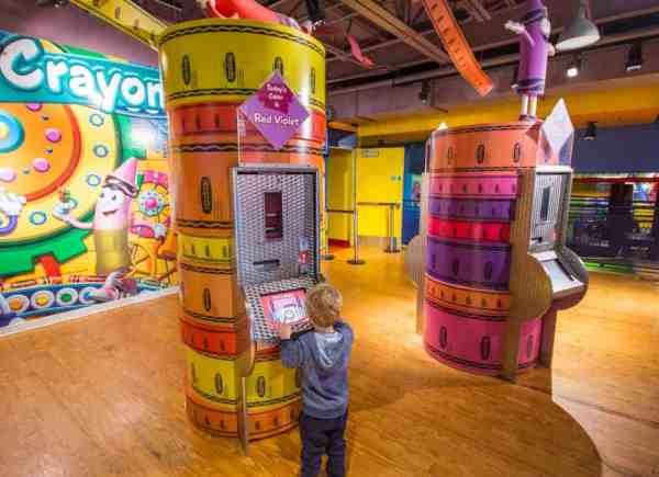 Creating your own crayon at the Crayola Experience in Easton, PA