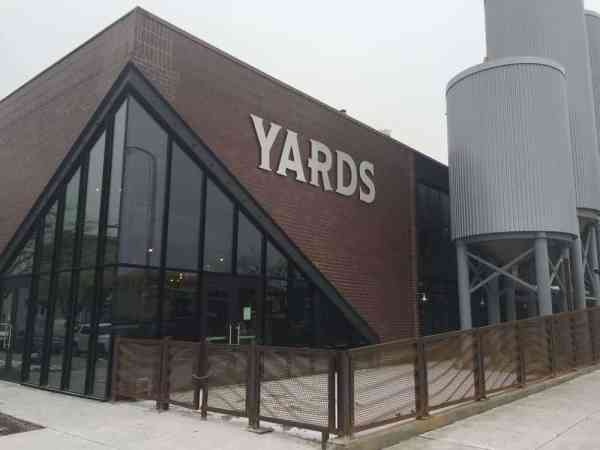 Outside of Yards Brewery in Philadelphia, Pennsylvania