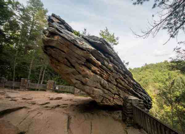 Balanced Rock in Trough Creek State Park in Huntingdon County, Pennsylvania