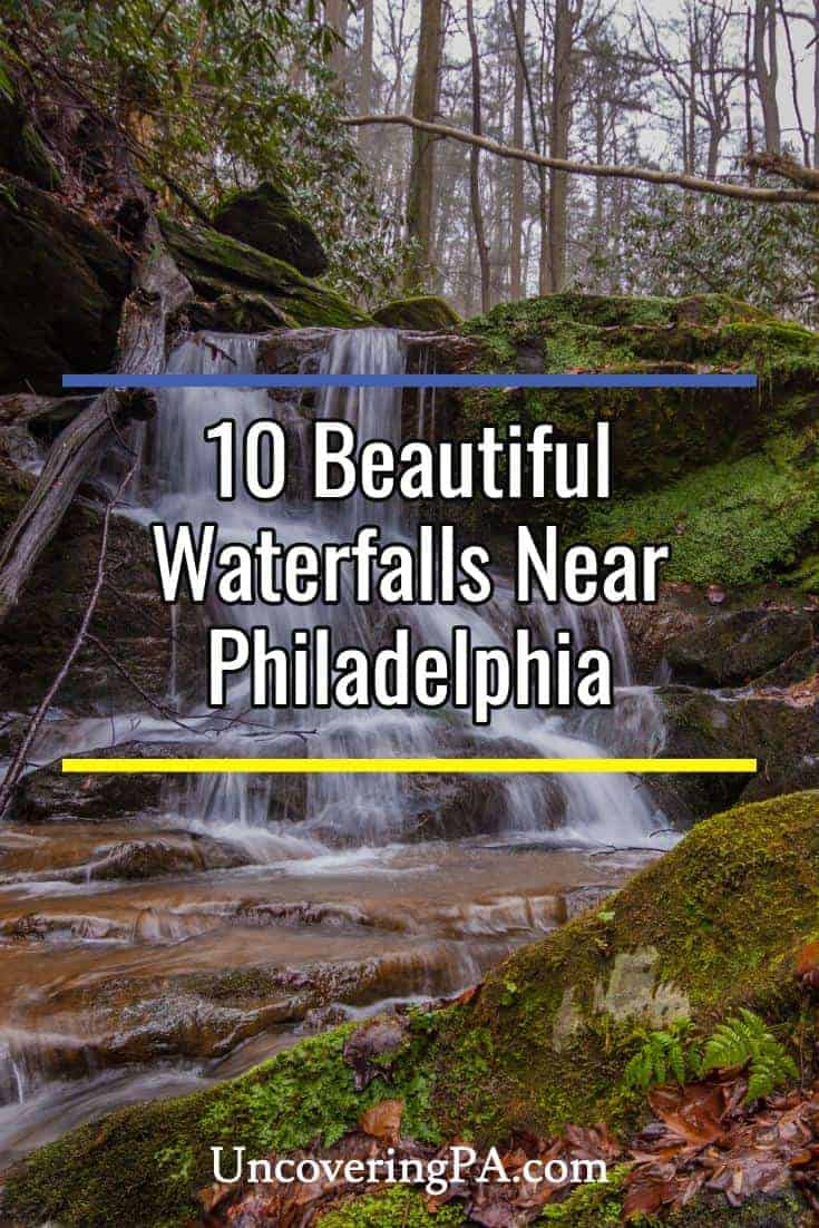 Beautiful waterfalls near Philadelphia, Pennsylvania