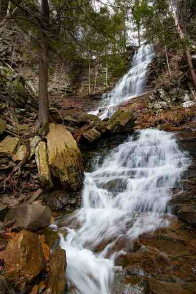 Angel Waterfall near Worlds End State Park