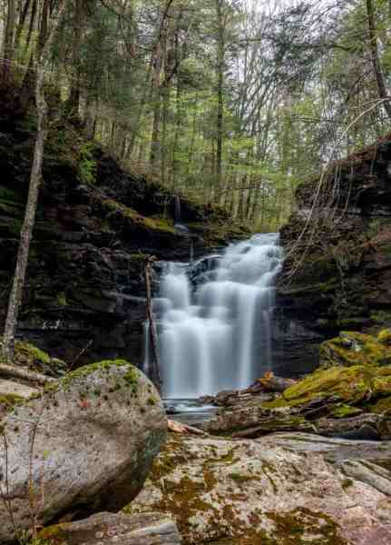 Big Falls in Sullivan County, PA