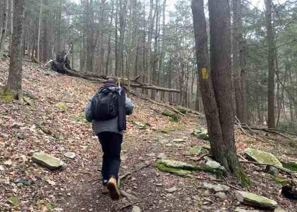 Hiking the Jacoby Falls Trail in Loyalsock State Forest.