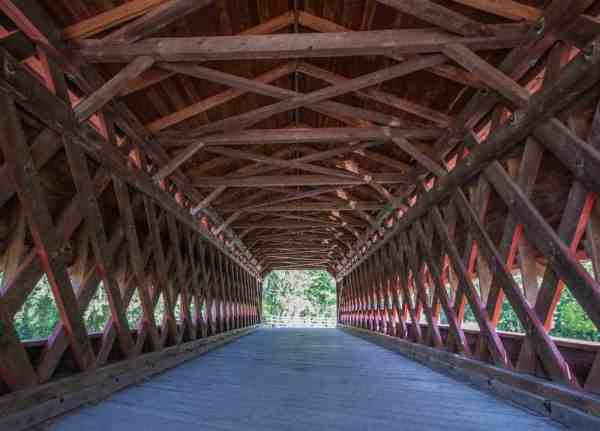 Inside Sachs Covered Bridge in Gettysburg, PA