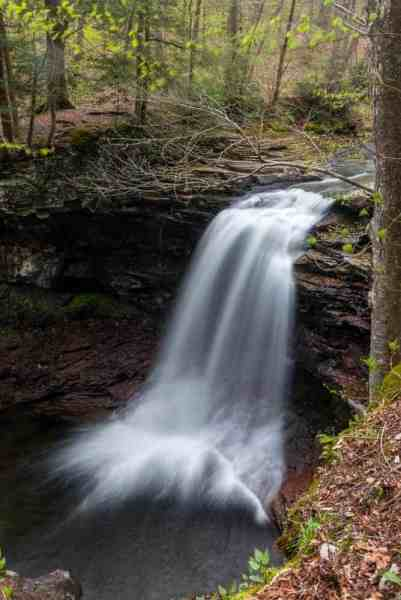 Waterfalls on Heberly Run in State Game Lands 13