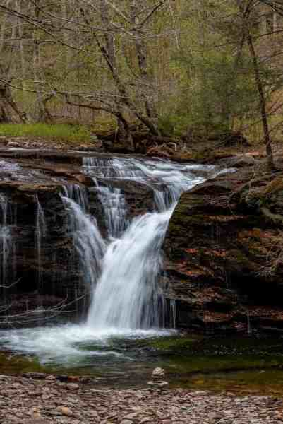 Waterfalls in State Game Lands 13: Twin Falls