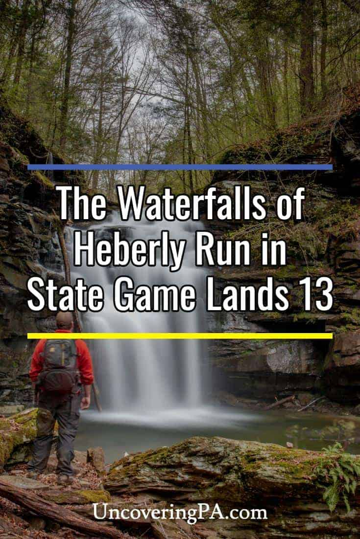 The waterfalls of Heberly Run in Pennsylvania's State Game Lands 13 #waterfalls