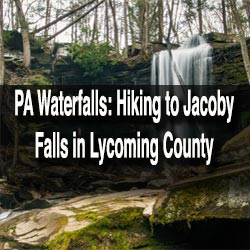 Hiking to Jacoby Falls