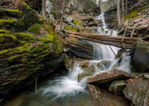 Gibson Falls in Loyalsock State Forest