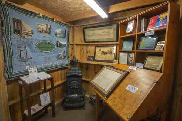 John Roebling at the Saxonburg Museum in Butler County, Pennsylvania
