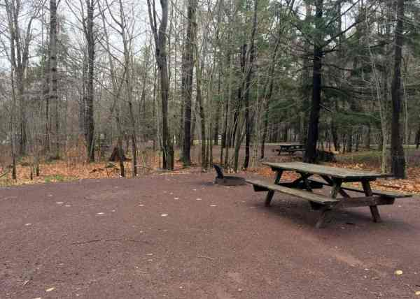 Campsite at Ricketts Glen State Park in northeastern Pennsylvania