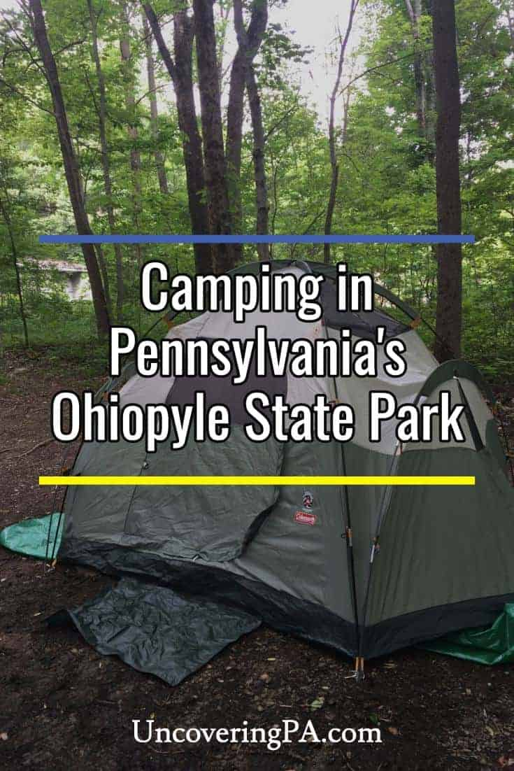 Camping in Ohiopyle State Park in Pennsylvania
