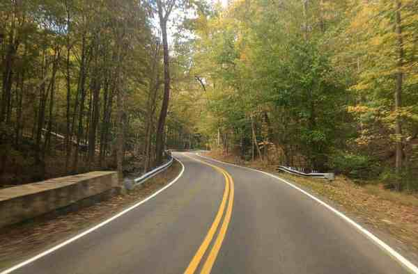 A beautiful road near Sewickley, Pennsylvania