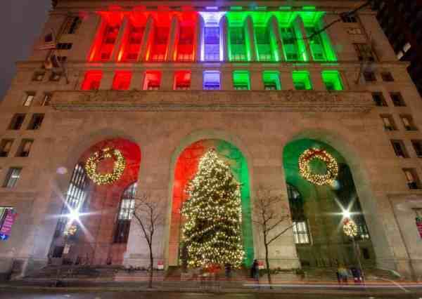 Christmas Lights on Pittsburgh's City-County Building