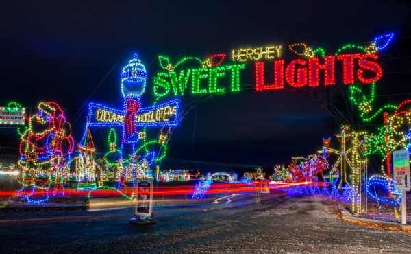 Hershey Sweet Lights is a great thing to do during Christmas in Hershey, PA