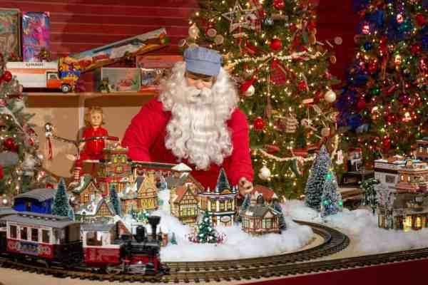 Santa at Kraynak's Christmas display in Mercer County, PA