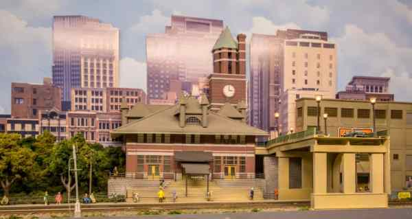 Allentown Train station as seen during a holiday train show at the Lehigh and Keystone Valley Model Railroad Museum
