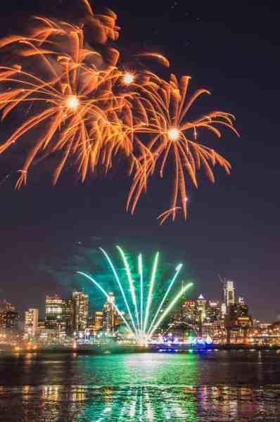 Philadelphia's New Year's Eve Fireworks from Camden, NJ