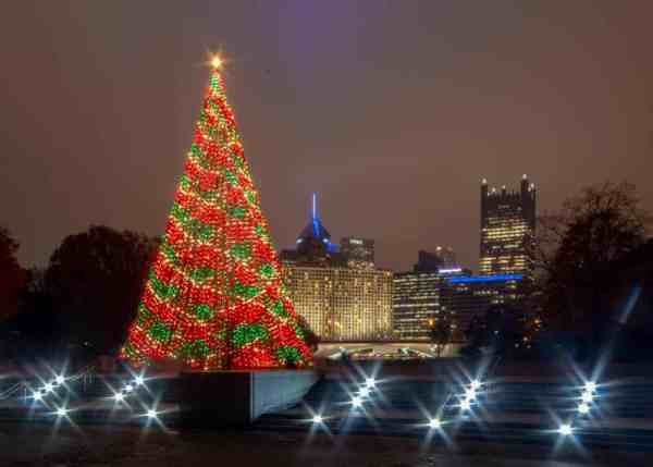 Christmas Tree in Pittsburgh's Point State Park