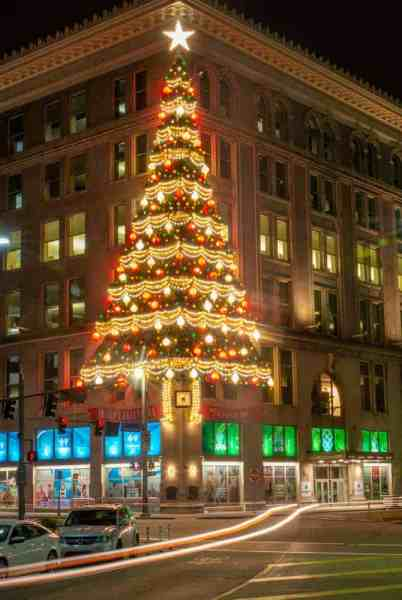 The Horne's Tree is one of the best Christmas Lights in Pittsburgh, Pennsylvania