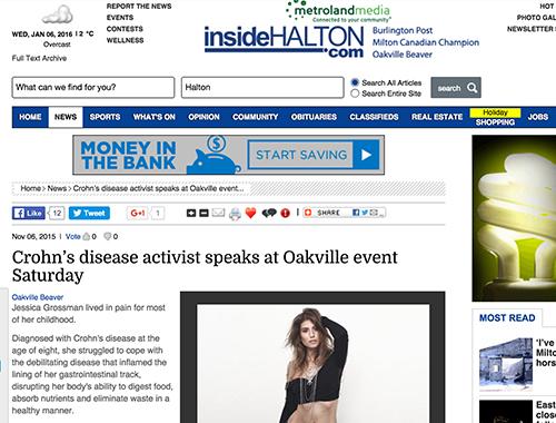 Uncover Ostomy Crohns Activist Speaks Inside Halton 11 6 2015