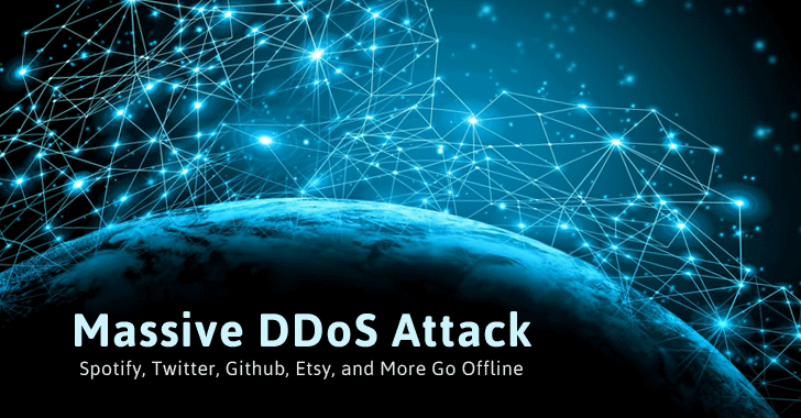 Massive DDoS Knocks Down Twitter, Github, Reddit, Pinterest