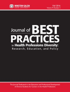cover image for Journal of Best Practices in Health Professions Diversity: Research, Education, and Policy, Fall 2016 issue