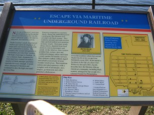 Historical Marker featuring Harriet Jacobs - Maritime underground railroad, Chowan River