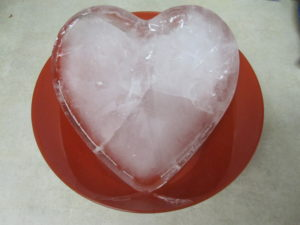 heart-shaped block of ice