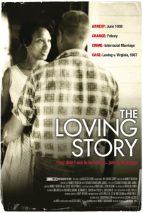 promotional poster for the documentary film, 'The Loving Story'