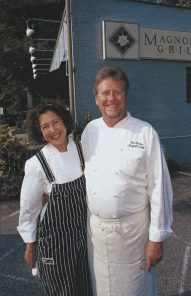 Ben and Karen Barker, owners of Magnolia Grill (photo by Ann Hawthorne)