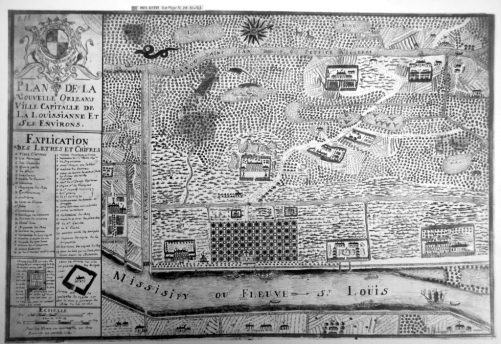 Dumont's map of 1730s New Orleans