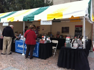 UNC Press booth, Southern Festival of Books 2012