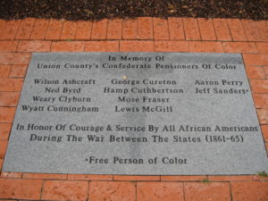Memorial for Confederate Pensioners of Color, Union County, N.C. (photo by Jaime Amanda Martinez)