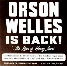 "Orson Welles is back! ""The Lives of Harry Lime"" (Image otrcat.com)."