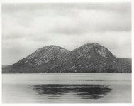 A. Doren, Solarized Mountains, Acadia National Park, Bar Harbor, Maine, 1974, gelatin silver print, Dallas Museum of Art, Polaroid Foundation grant