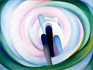 Georgia O'Keeffe, Grey Blue & Black—Pink Circle, 1929, oil on canvas, Dallas Museum of Art, gift of The Georgia O'Keeffe Foundation