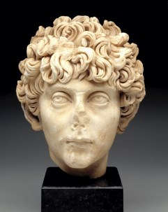 Head of a Roman youth, Roman Empire, c. A.D.140-170, marble, Dallas Museum of Art, gift of Norbert Schimmel, in memory of Betty Marcus