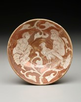Bowl, Egypt: Cairo, 11th–12th century, painted in luster on an opaque white glaze, The Keir Collection of Islamic Art on loan to the Dallas Museum of Art, K.1.2014.266
