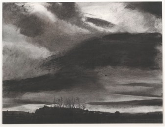 "Danny Williams, ""Storm Light, Beynes,"" 2007, powdered pigment, charcoal, conté, and ink on paper, Dallas Museum of Art, Texas Artists Fund, 2008.36.1, © Danny Williams"
