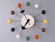 "George Nelson Associates, Howard Miller Clock Co., ""Ball"" wall clock, designed 1947, Dallas Museum of Art, gift of the Alconda-Owsley Foundation in honor of Elizabeth Boeckman, Image Courtesy Dallas Museum of Art, 1994.255"